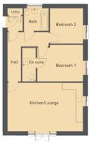 Primrose Court Apartment 3 floor plan