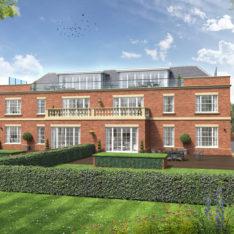 Heronslea New Homes in Radlett - Watford Road - CGI Rear