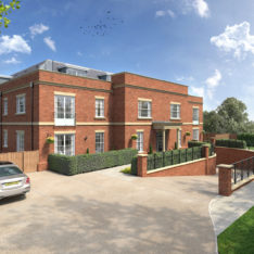 Heronslea New Homes - Newland Heights - Watford Road - Radlett - CGI Front External