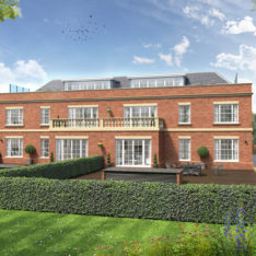Heronslea New Homes - Newland Heights - Watford Road - Radlett - CGI Rear External